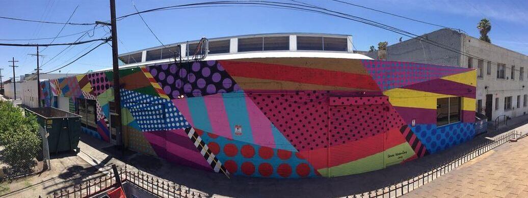 130 ft x 20 ft mural by Jason Woodside