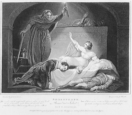 Act V, Scene 3: Juliet awakes, and finds Romeo dead
