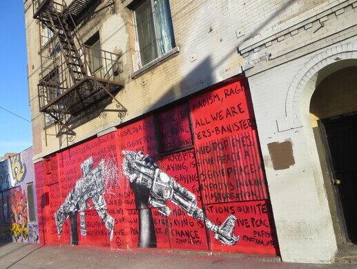 A mural by artist Ralph Ziman