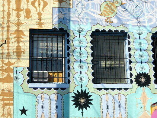 A mural by Shrine, hidden in an alley.