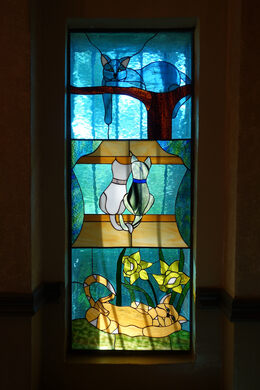 Stained glass in the Mausoleum, built in 1929