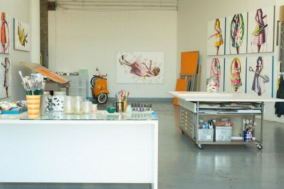 Kelley Reemtsen's studio at the Brewery Arts Complex