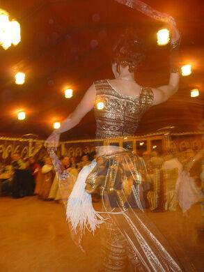 A traditional Tunisian dancer