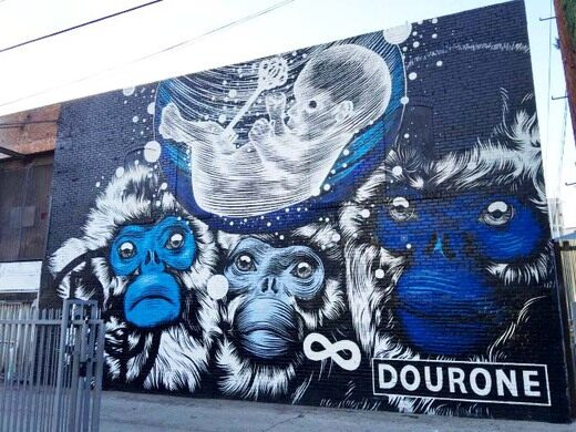Mural by the Spanish and French duo Dourone