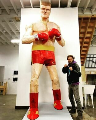12 ft Ivan Drago from Rocky IV