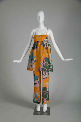 Purchased by donor in the late Spring or Summer 1969 from Saks Fifth Avenue (sent from NYC). Worn to the Boys Club Ball at the Shedd Aquarium when the donor was the Chairman of the Ball. Subsequently worn to North Shore debut parties and parties in Florida.