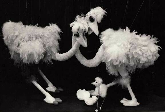 Ostrich Marionettes