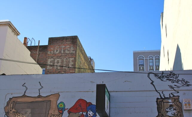 A ghost sign at 921 Geary Blvd