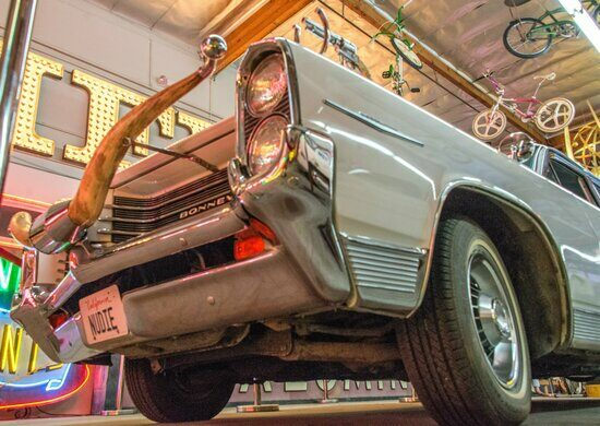 Rhinestone Cowboy's Nudiemobile at  the Valley Relics Museum