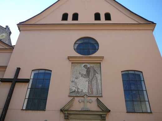 The exterior of the Capuchin Church