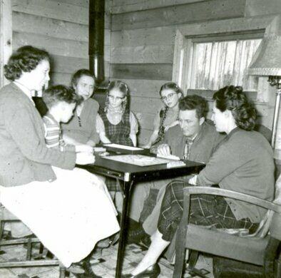 Ellefson Family At Scrabble In Calling Lake Alberta
