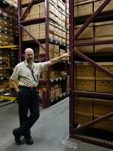 City Archivist Michael Holland