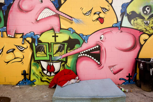 Collaboration by Gobsonebows x Angelonce x Jc Rivera for Smile South Central