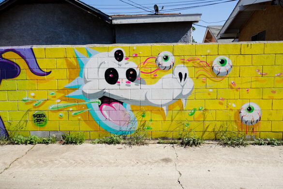 The Howler, mural by PHOBIK @phobikgod