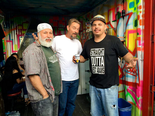 Duke One (graffiti artist), Frederick Sutherland (the mastermind behind The Shops at Adams Gateway, Fred 62, Delicious Pizza and so much more) and Robert Monroy (The Box and Bubble Butts Grooming)