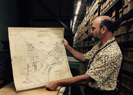 City Archivist Michael Holland shares an early map of LA