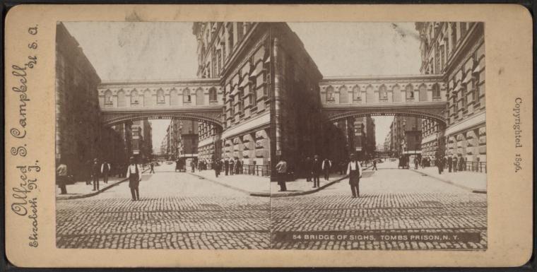 Bridge of Sighs, Tombs Prison, N.Y.