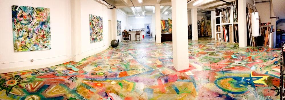 Artist Michael Torquato deNicola's studio