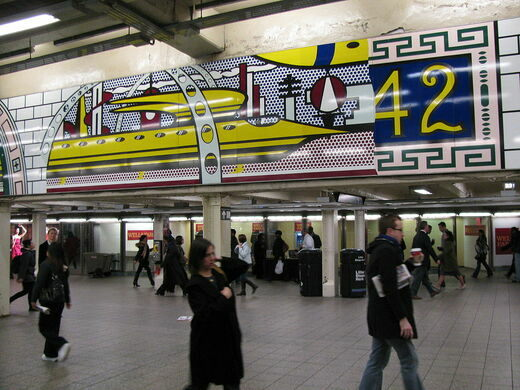 Lichtenstein Under Times Square