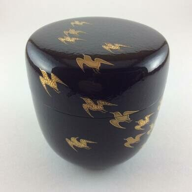 Lacquered natsume green tea holder