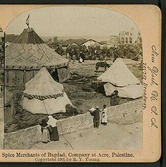 Spice merchants of Baghdad, Company at Acre, Palestine