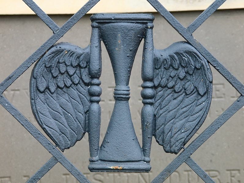 Wrought Iron Winged Hourglass, St. Louis Cemetery 2, New Orleans