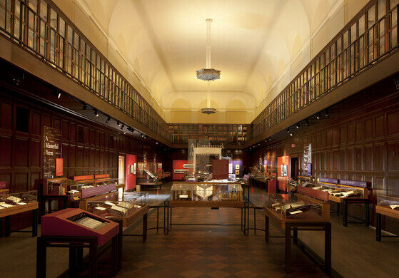 "Main Library Hall, permanent exhibit, ""Remarkable Works, Remarkable Times"""