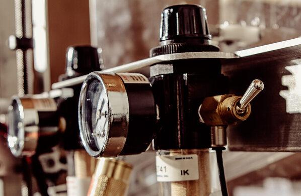 Temperature gauges for small-batch liquor making.