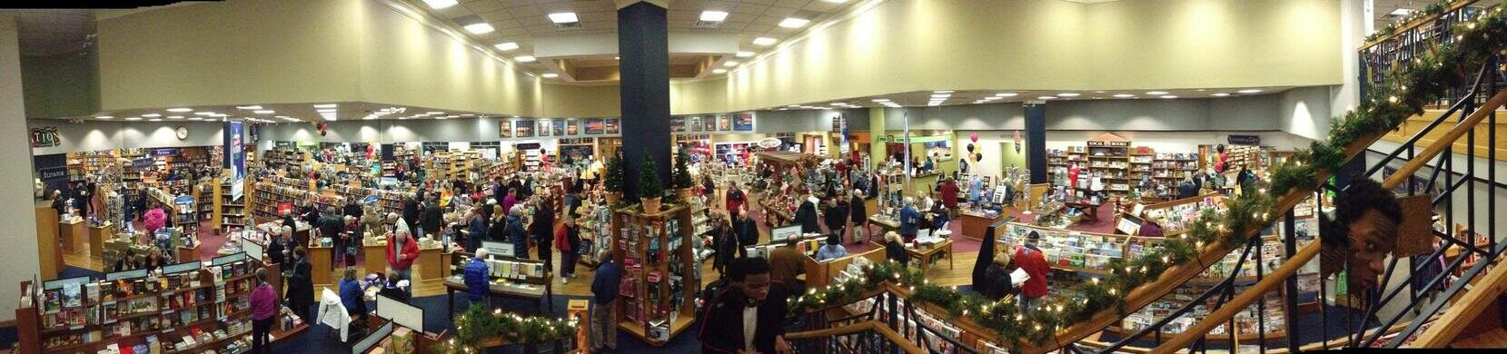 The bookstore full of people!