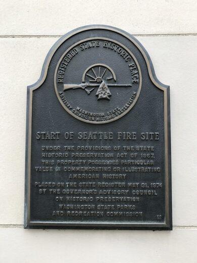 Seattle Fire Plaque