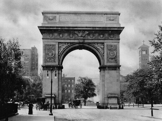 Washington Square Arch, 1899