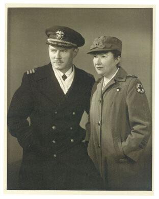 Armistead Peter 3rd and Caroline in uniform