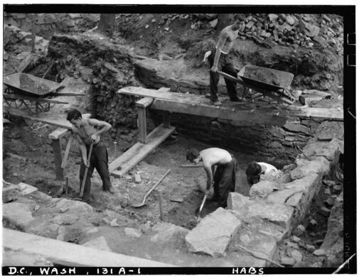 Archeological excavations in the 1930's