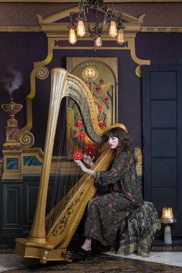 Harpist Cristina Black