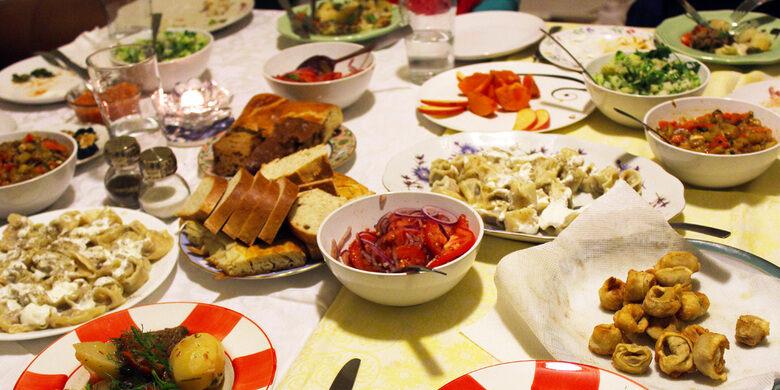 An Uzbek Food Spread
