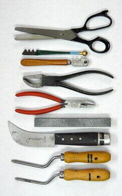 A set of glaziers' tools
