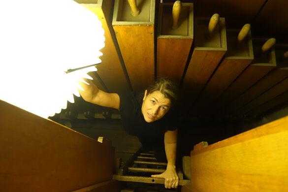 Inside the pipe organ