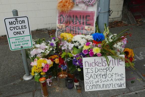 Donnie Chin street memorial