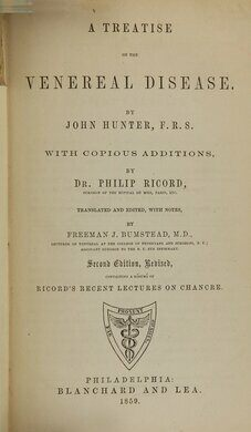A Treatise on the Venereal Disease by John Hunter, 1859