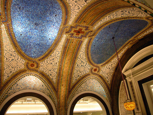 Ceiling of Macy's, downtown Chicago.