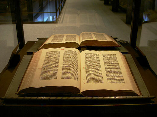 Gutenberg Bible from about 1454