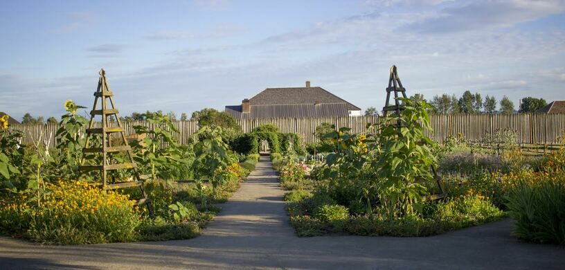 English garden at Fort Vancouver