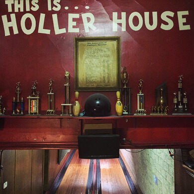 Bowling trophies and memorabilia