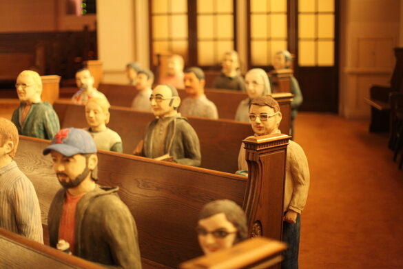 Ceramic sculptures of the Archive staff