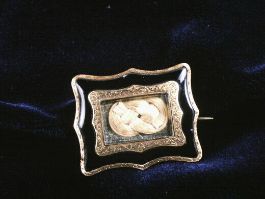 A hair brooch in the permanent collection of The Children's Museum of Indianapolis