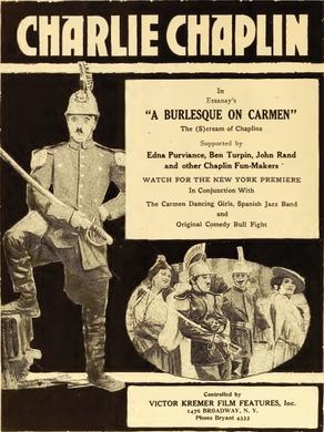 Charlie Chaplin A Burlesque on Carmen Film Daily 1919