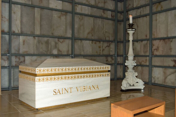 Saint Vibiana's tomb in the crypt of Our Lady of the Angels Cathedral