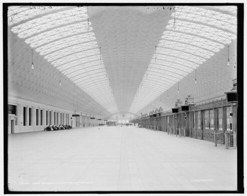 Inside an empty Union Station, circa 1910-1920