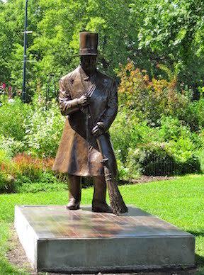 Statue of Charles Wicker in Wicker Park