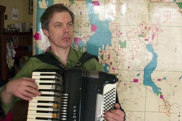 Accordionist Kyle Hanson of The Murkies